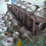 Crossflow MicrohydroTurbine Parts In Production